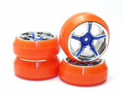 Roue drift orange fluo