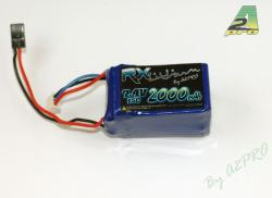 accu lipo 7.4v 2S 2000mah reception