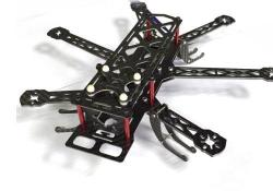chassis drone hexacoptere carbone