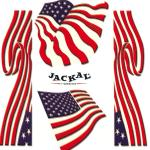 Autocollants interne jr.stars & stripes Jackal