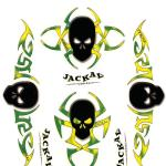 Autocollants interne jr.tribal skulls Jackal