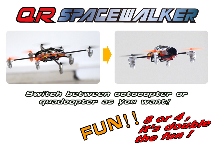 octocoptere SPACEWALKER walkera drone
