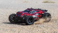 traxxas TRX67064 1 Rustler 4x4 Brushed rouge
