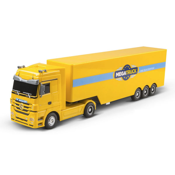 achat camion mercedes benz actros jaune rc5000y net loisirs. Black Bedroom Furniture Sets. Home Design Ideas
