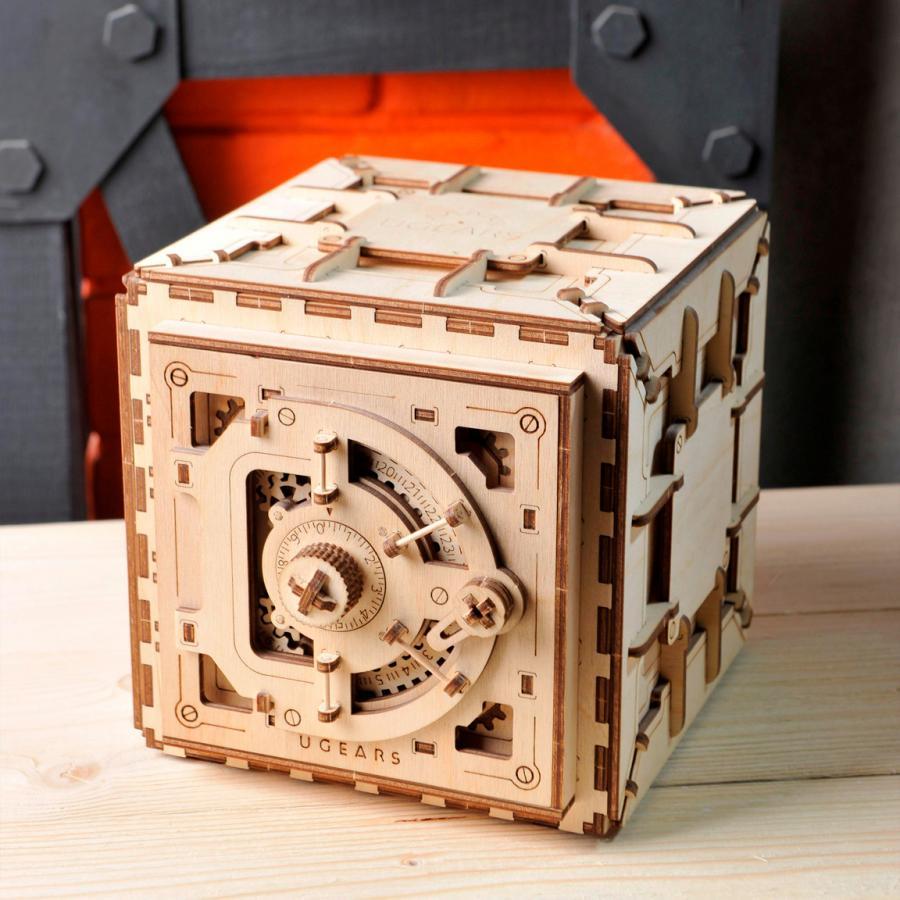 achat puzzle 3d en bois coffre fort ugears 70011 net loisirs. Black Bedroom Furniture Sets. Home Design Ideas